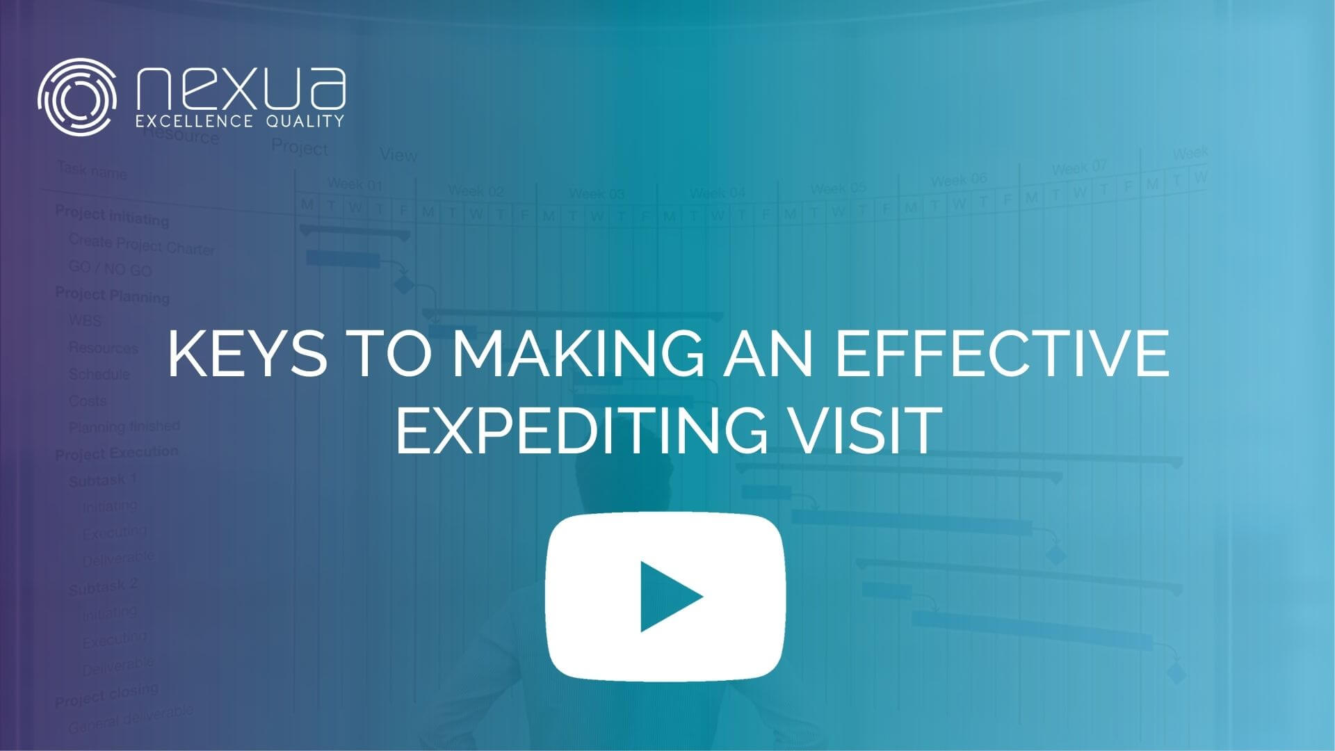 Cover of a video with play sign KEYS TO MAKING AN EFFECTIVE EXPEDITING VISIT by nexua excellence quality